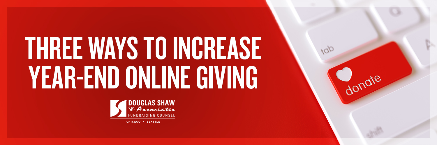 For most organizations, the month of December brings in about 30-40% of their annual online giving. It probably doesn't surprise you to hear that the last week of the year. . .
